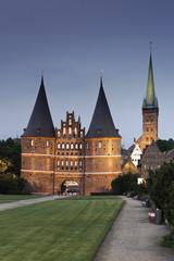 Deutschland, Schleswig-Holstein, Lübeck, Blick auf St. Petri- Kirche