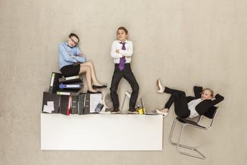 Geschäfts Kinder im Büro