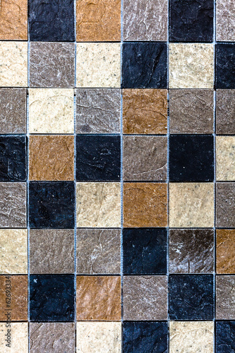 Mosaic Grey  Charcoal Brown Background