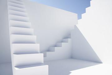 Weiß modernen Treppen im Büro