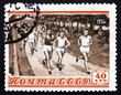 Postage stamp Russia 1954 Track, race