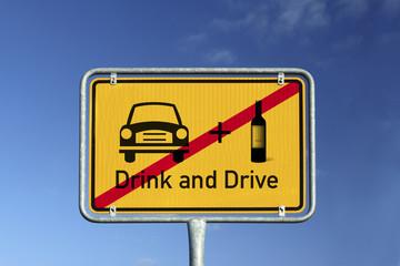 Schild Drink and Drive © Matthias Buehner