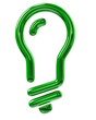 Green light bulb icon
