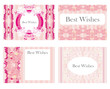 vintage horizontal business cards set