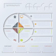 Vector circle infographic design template