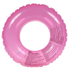 Pink inflatable round tube (Clipping path)