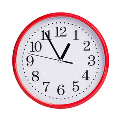 Almost an hour on a round clock face