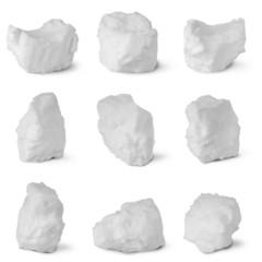 Nine white snowball. (Nine clipping path)