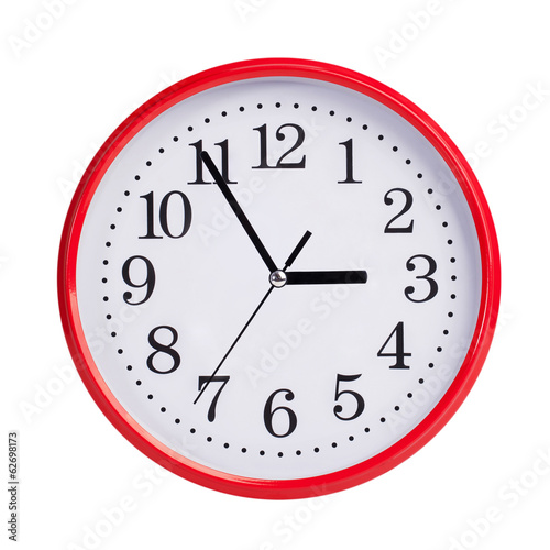 Five to three on round clock face