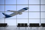 Departures airport windows