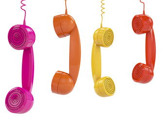 Hanging colored handsets