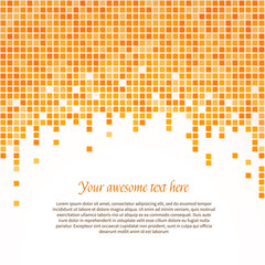 Orange pixel background. Vector illustration.