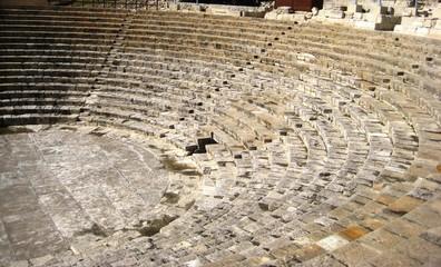 ancient amphitheater, kourion, cyprus