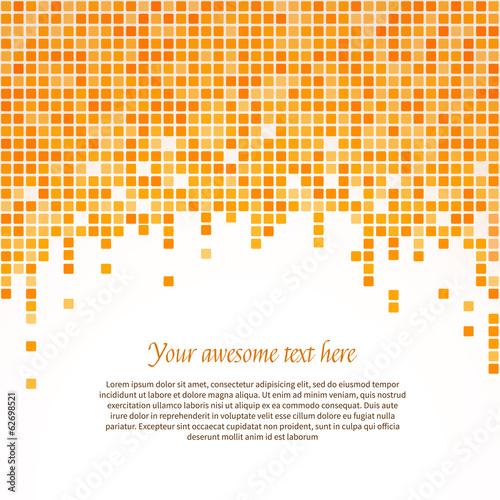 Orange pixel background. Vector illustration.