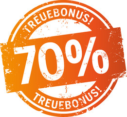 Treuebonus Button 70%