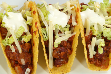 tacos with minced beef