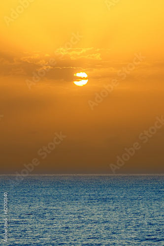 Sunrise over Atlantic ocean