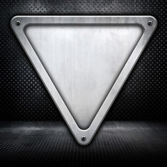 Triangle metal pattern background