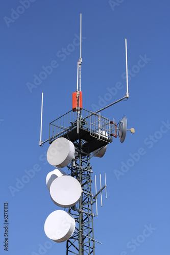 Antennas in a iron tower