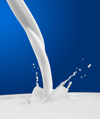 Pouring milk splash.