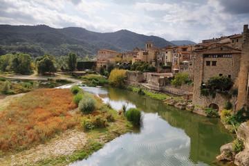 Besalu medieval village landscape