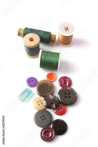 isolated spindles, buttons