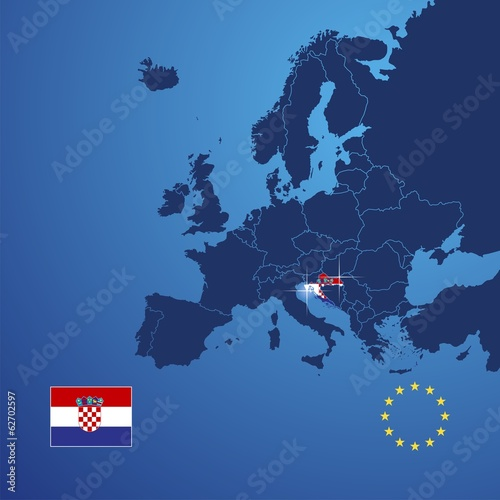 Croatia map cover vector