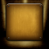 copper metal template poster