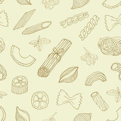 Retro pasta seamless background