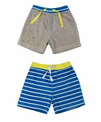 Collage of boy shorts clothing isolated on white.
