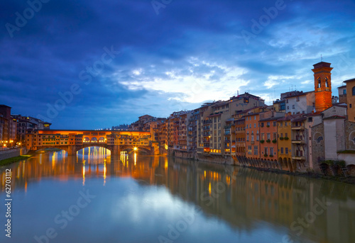 View of bridge Ponte Vecchio. Florence, Italy