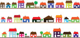 Neighborhood with colorful homes - 62703741