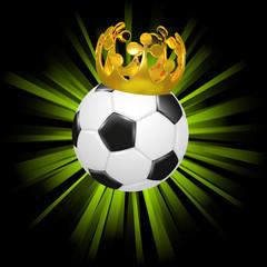 Fußball mit Krone