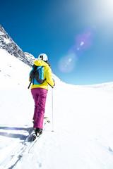 Skiläuferin