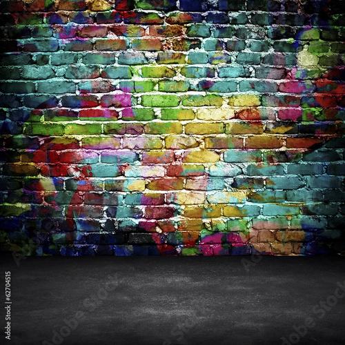 graffiti brick wall © Eky Chan