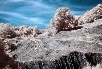 Infrared (IR) Belbek canyon landscape