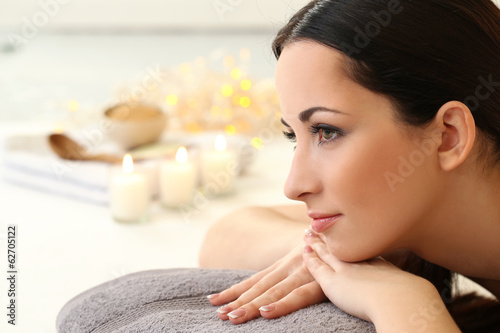 Beautiful brunette relaxing