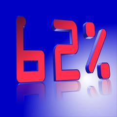 3D Prozentangabe und Prozentzeichen