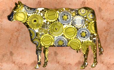 Agricoltura, bestiame, mucca, Meccanismi, meccanica, ingranaggi