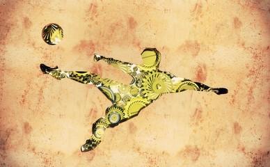 Calcio, calciatore, goal, meccanismi, ingranaggi, allenamento