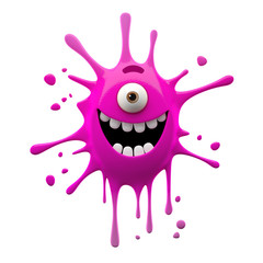 funny monster 3D character, crazy little creep,
