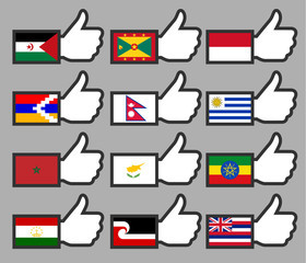 Flags in the Thumbs up-15