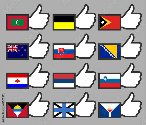 Flags in the Thumbs up-12