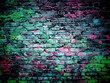 graffiti brick wall - 62706150