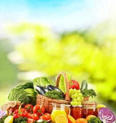 Balanced diet based on raw organic vegetables