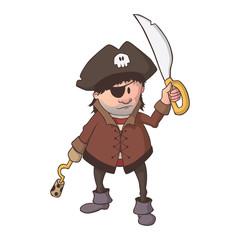 Comic Piraten Kapitän