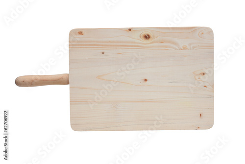 Cutting board for the kitchen isolated
