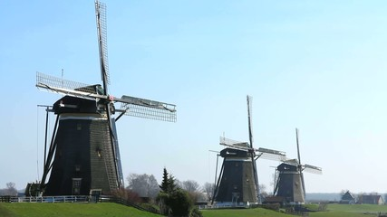 Three windmill in a row