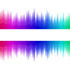 Abstract background rainbow ribbon