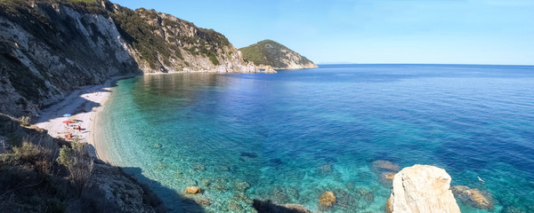 Elba Island, the sea view